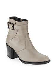 Helmut Lang Leather Ankle Boots Graphite