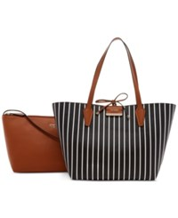 Guess Bobbi Inside Out Tote Black Stripe