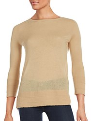 Magaschoni Textured Cashmere Sweater Birch