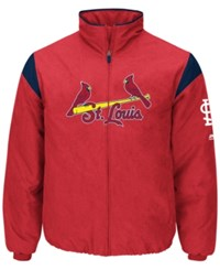 Majestic Men's St. Louis Cardinals On Field Thermal Jacket Red Navy
