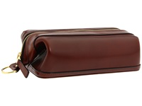 Bosca Old Leather Collection 10 Zipper Utilikit Cognac Leather Wallet Brown