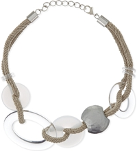Armani Collezioni Jewelled Rope Necklace White