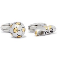 Paul Smith Football And Boot Gold And Silver Tone Cufflinks Silver