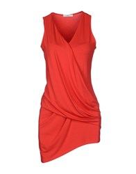 Clio Tank Tops Red