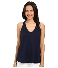 Lilly Pulitzer Minka Top True Navy Women's Sleeveless