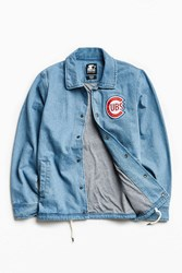 Starter X Uo Mlb Chicago Denim Coach Jacket Indigo