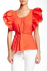 Ryu Ruffled Sleeve Blouse