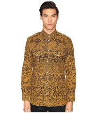 Vivienne Westwood Printed Mussola Military Shirt Gold Lace