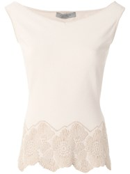 D.Exterior Floral Embroidered Hem Blouse Nude And Neutrals