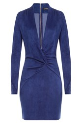 Jitrois Suede Dress Blue