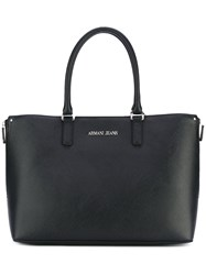 Armani Jeans Shopper Tote Bag Women Polyester Polyurethane One Size Black