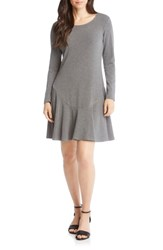 Karen Kane Sweater Dress Dark Heather Grey