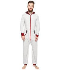 Original Penguin Waffle Hoodie One Piece Grey Heather Biking Red Men's Jumpsuit And Rompers One Piece White