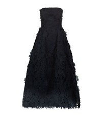 Nicholas 3D Lace Strapless Dress Female Blue