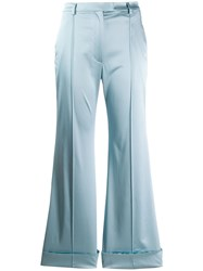 House Of Holland Classic Flared Trousers Blue