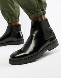 Zign Chelsea Boots In Black High Shine