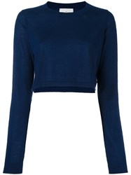 Le Kasha 'Hawai' Cropped Jumper Blue