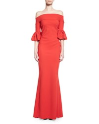 La Petite Robe Di Chiara Boni Off The Shoulder Ponte Gown Passion
