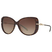 Tiffany And Co. Co Tf4126b Embellished Cat's Eye Sunglasses Tortoise Brown Gradient
