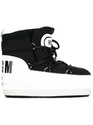 Msgm Rear Logo Snow Boots Black