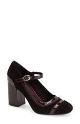 Women's Poetic Licence 'Take It Easy' Mary Jane Pump Burgundy Fabric