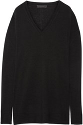 The Row Amherst Cashmere And Silk Blend Sweater Black