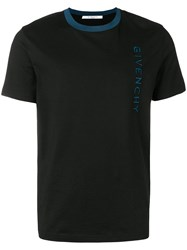 Givenchy Embroidered Logo T Shirt Black