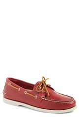 Men's Sperry 'Authentic Original Sarape' Boat Shoe Red Leather