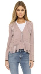 Elizabeth And James Zadeh Suede Jacket Pink Quartz