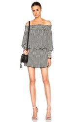 Norma Kamali Peasant Shirt Dress In Stripes