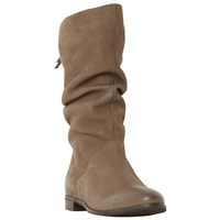 Dune Rosalind Ruched Calf Boots Taupe
