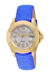 Invicta Women's Angel Leather Strap Watch Blue