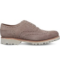 Grenson Stanley Oxford Leather Brogues Beige