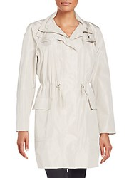 Piazza Sempione Taffeta Trench Coat Light Grey