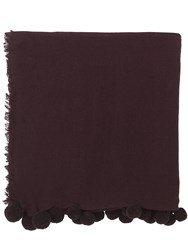 Jigsaw Soraya Wool Pom Edge Scarf Purple