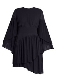 La Mania Etalla Pleated Dress Navy