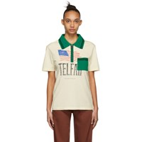 Telfar Beige And Green Knit Polo