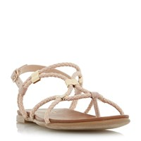Head Over Heels Layley Elastic Plait Strap Sandals Pink
