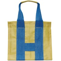 Comme Des Garcons Shirt Yellow And Blue Large Poly Tote