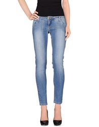 Made With Love Denim Denim Trousers Women Blue