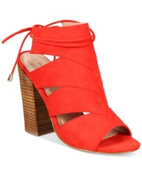 Call It Spring Asadolla Block Heel Sandals Women's Shoes Chili