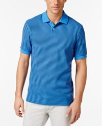 Club Room Men's Big And Tall Feeder Stripe Polo Only At Macy's Palace Blue
