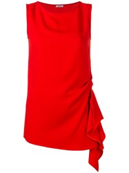 P.A.R.O.S.H. Draped Detail Top Red