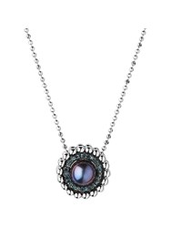 Links Of London Effervescence Blue Diamond Necklace Silver