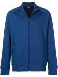 Hugo Boss Zip Sweatshirt Blue