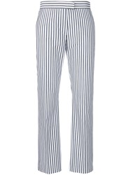Paul Smith Ps By Striped Slim Fit Cropped Trousers Grey