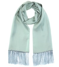 Haider Ackermann Fringed Silk Scarf Green