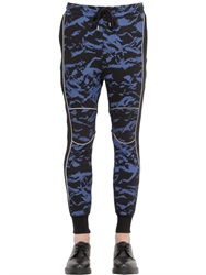 Markus Lupfer Marbled Camo Print Cotton Jogging Pants