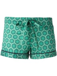 Otis Batterbee Printed Pyjama Shorts Green