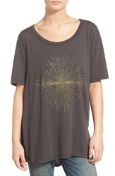 Junior Women's Sun And Shadow Oversize Graphic Tee